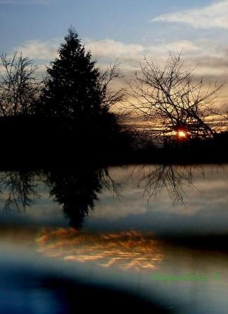 Saulėlydis nuo mano palangės - Spalvingi atspindžiai